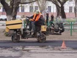 Проливные дожди внесли корректировку в работы на внутридомовых территориях Рубцовска, но сроки окончания работ остаются неизменными