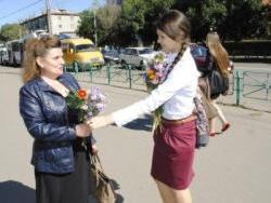Необычайно трогательную акцию провели накануне воспитанники Рубцовской гимназии №3