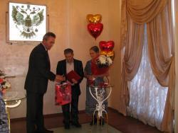 50-летний юбилей свадьбы отпраздновали рубцовчане Владимир Викторович и Валентина Алексеевна Фисенко
