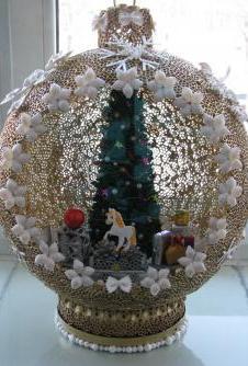 Сделать новогоднюю игрушку на елку для конкурса