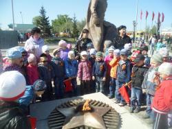 В МБДОУ «Детский сад №45 «Солнышко» прошел праздник, посвященный Великой Победе