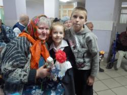 Воспитанники приюта «Заря» встретились с представителями старшего поколения