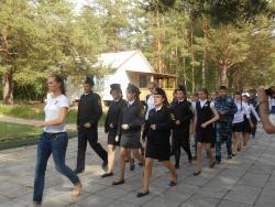 В летнем оздоровительном лагере им.Титова проходит профильная смена «Патриоты России»