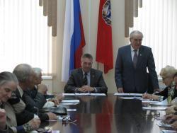 Глава Администрации Рубцовска Владимир Ларионов провел встречу с Советом старейшин