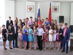 В Администрации города чествовали «серебряных» медалистов