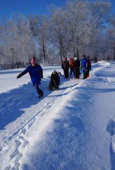 В Рубцовске прошла Новогодняя гонка